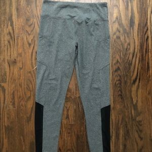 Grey Leggings w/ Mesh Detailing